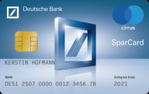 SparCard Quelle: Deutsche Bank
